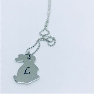 Sterling Silver Personalized Initial Rabbi…